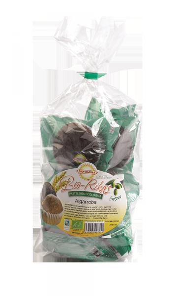 Packaging magdalenas Biorikas de algarroba