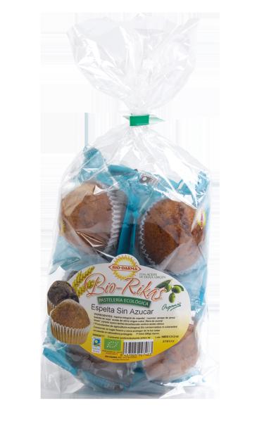 Packaging magdalenas Biorikas de espelta